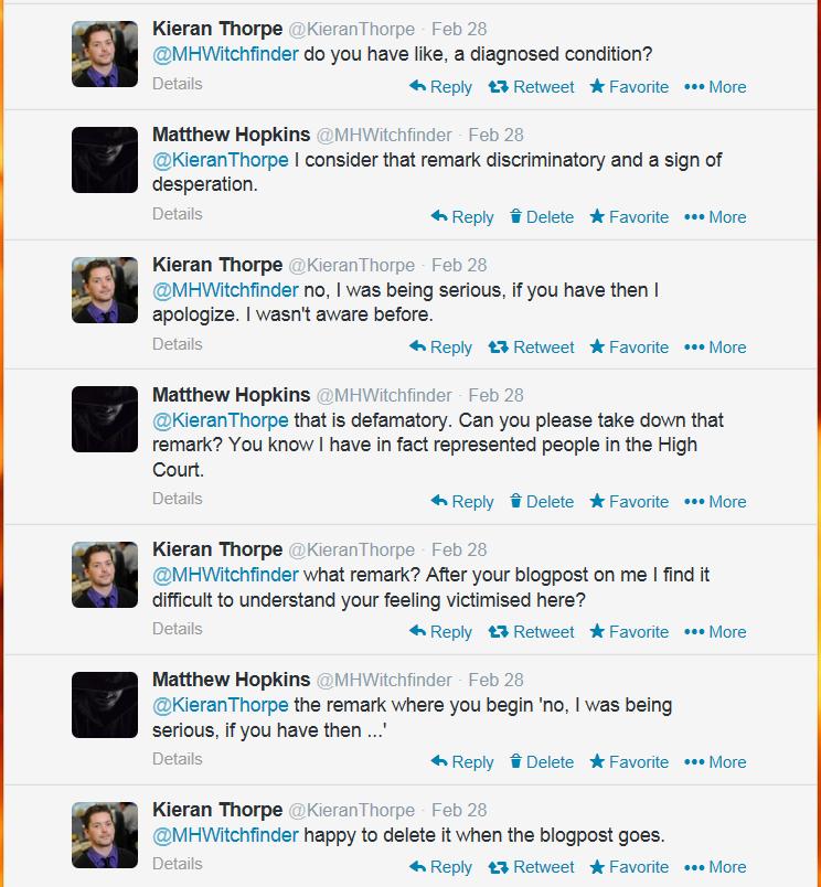 Kieran Thorpe embarrassing tweets